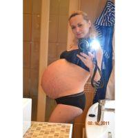 Живот беременной тройняшками фото