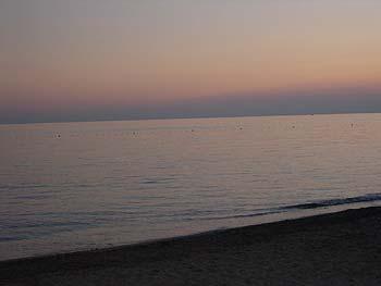Средиземное море в сумерках, Турция, октябрь 2004г